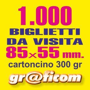 biglietti da visita 85x55 cartoncino 1000