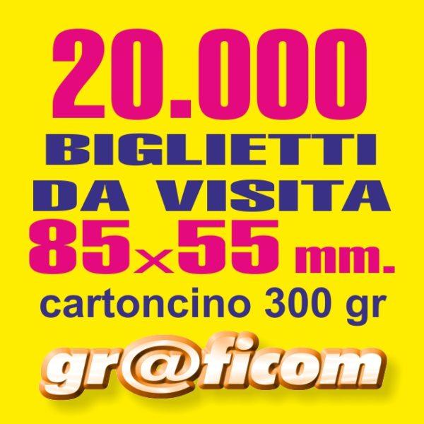 biglietti da visita 85x55 cartoncino 20000