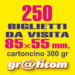 biglietti da visita 85x55 cartoncino 250