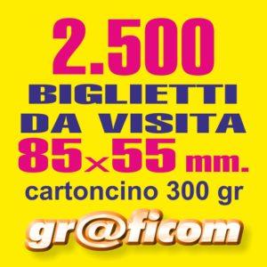 biglietti da visita 85x55 cartoncino 2500