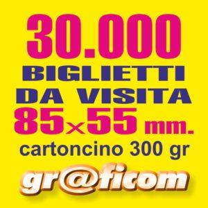 biglietti da visita 85x55 cartoncino 30000