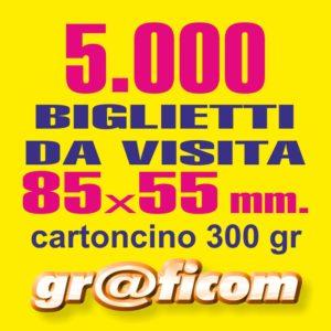 biglietti da visita 85x55 cartoncino 5000