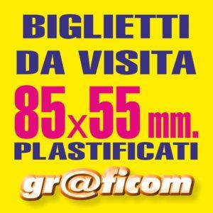 biglietti da visita 85x55 plastificati