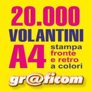 volantini A4 20000
