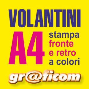 volantini A4 (29,7x21 cm)