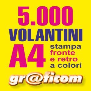 volantini A4 5000