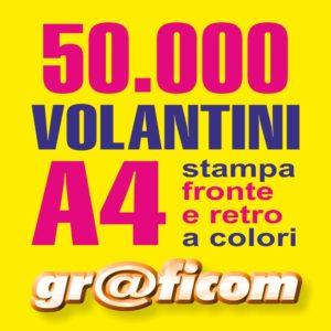 volantini A4 50000