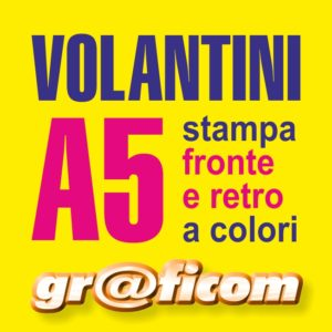 volantini A5 (21x14,8 cm)