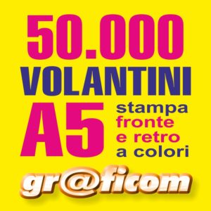 volantini A5 50000