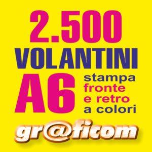 volantini A6 2500