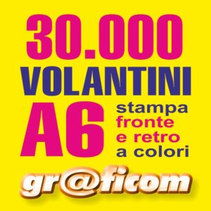 volantini A6 30000