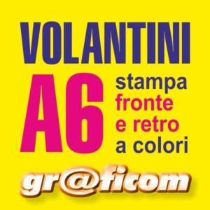 volantini A6 (14,8x10,5 cm)
