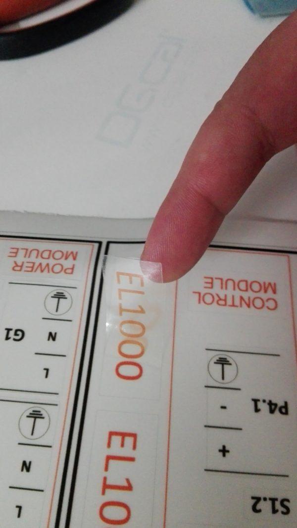 etichette adesive personalizzabili trasparenti