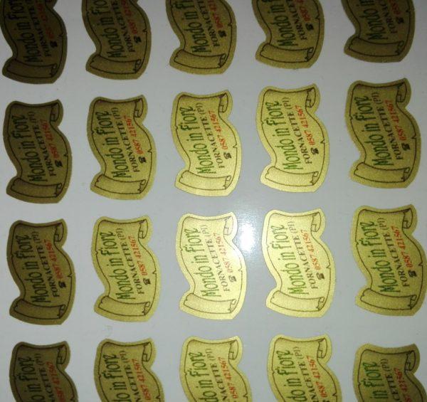 etichette adesive personalizzabili con fondo oro