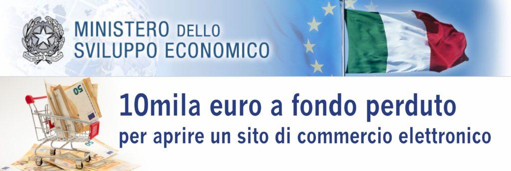 10mila euro a fondo perduto per aprire un sito di commercio elettronico