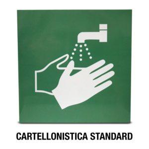 CARTELLO LAVAMANI STANDARD PER PIANTANA