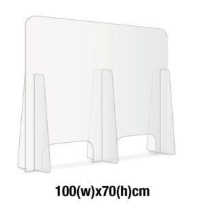 PANNELLO SICUREZZA IN PLEXIGLASS TRASPARENTE 100x70 cm