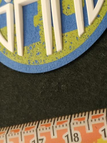 GRAFICOM Patch termoadesiva 3D in microfibra stampata CMYK+ silicone.