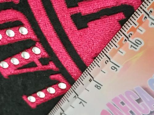 GRAFICOM Patch termoadesiva in tessuto floccato e strass.