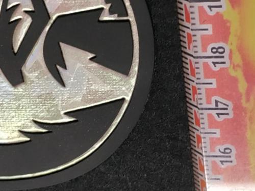 GRAFICOM Patch termoadesiva 3D in TPU (poliuretano termoplastico) olografico e silicone.