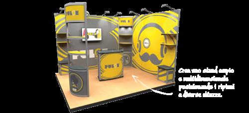 Realizzazione stands fieristici - Progettiamo e realizzaziamo stands fieristici modulari e facilmente trasportabili, completamente personalizzabili.