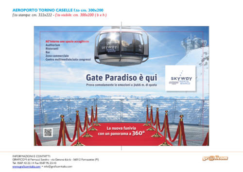 cartello skyway torino caselle 300x200 cm
