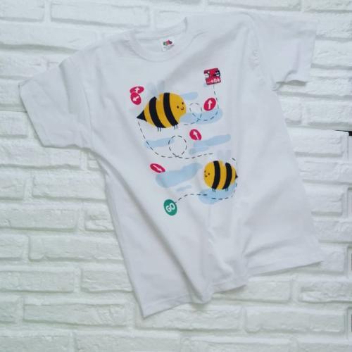 T-shirt bambino stampata con colori certificati adatti anche per neonati.