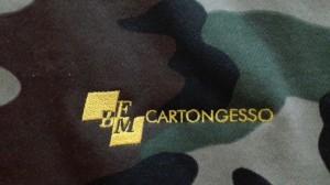 Ricamo su felpa camouflage